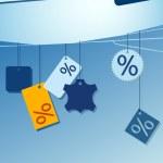 Sale labels — Stock Vector