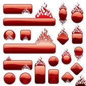 Firebottons set — Stock Vector