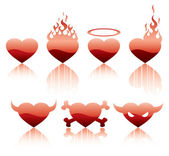 Hearts inferno character — Vector de stock