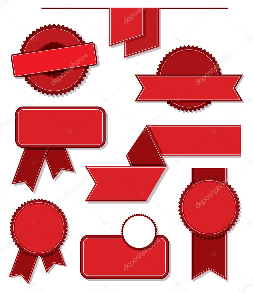 A set of blank vector labels. — Stock Vector #1393681