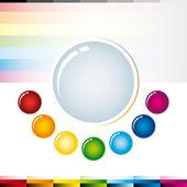 Patrón colorbuttons — Vector de stock