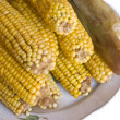 Boiled corn — Stockfoto