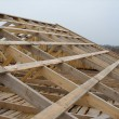 Roof timbers - Stock Photo
