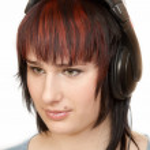 Woman in Head-phones — Stock Photo #2553497