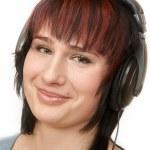 Woman in Head-phones — Stock Photo #2553505
