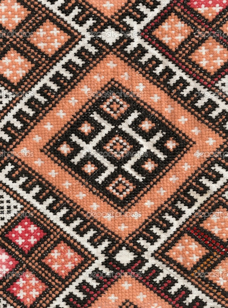 Decorative pattern of embroidery of Ukraine — Stock Photo #1448379