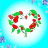 Blommande hjärta. — Stockfoto