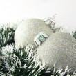 Two christmas balls — Stock Photo #1142192