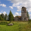 Ruins of medieval ortodox monastery — Stock Photo