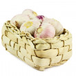 Royalty-Free Stock Photo: Basket of garlic cloves