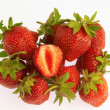 Group of ripe strawberries — Stockfoto