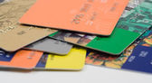 Heap of credit card — Stock Photo