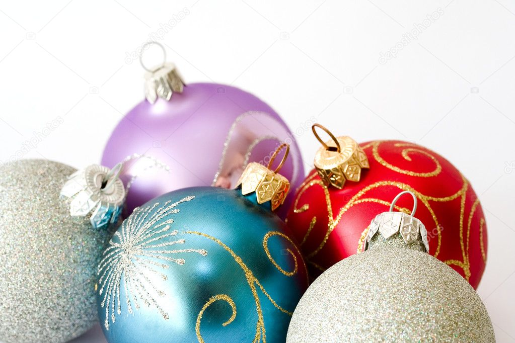 Christmas balls. Shallow depth of field — Stock Photo #1142162