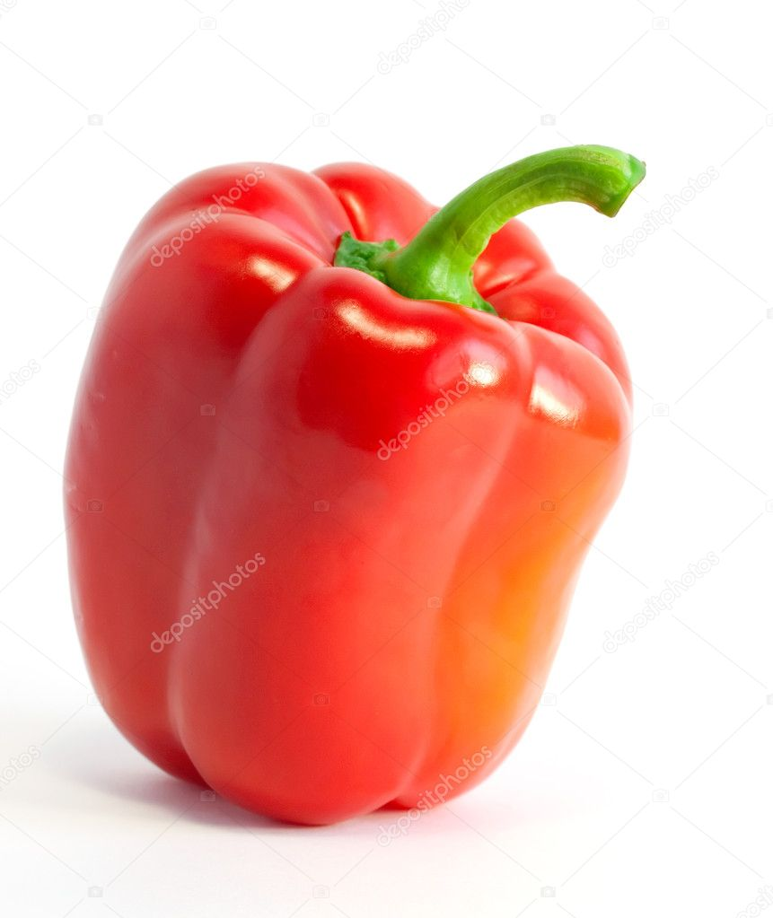 Red sweet pepper isolated on white background — Stock Photo #1143115