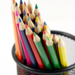Bunch of colored pencils on white — Stock Photo #1173017