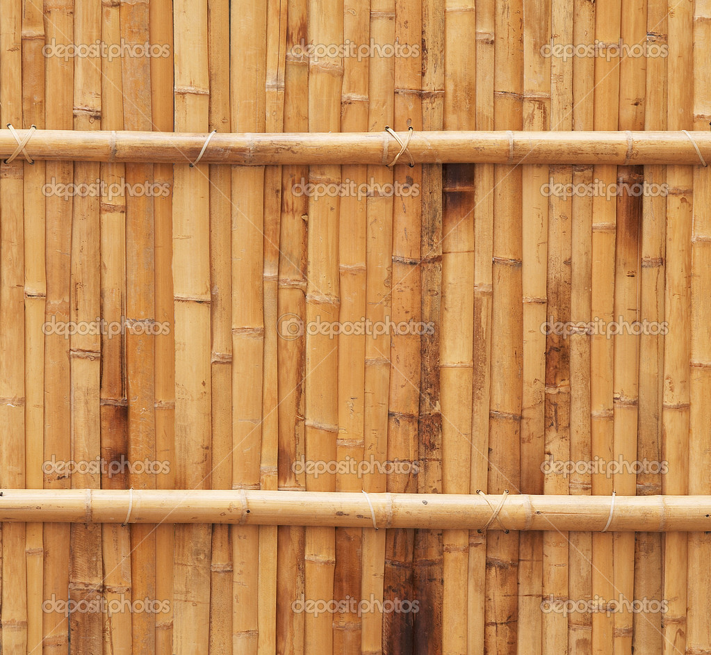Natural bamboo fence texture  Stock Photo #1173927