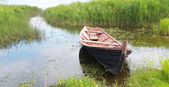 Old wooden fishing boat — Stock Photo