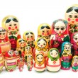 Matreshka. Set of nesting dolls - Stock Photo