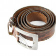 Modern brown leather belt — Stock fotografie