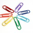 Colored paper-clips as flower — Stock Photo #1257803