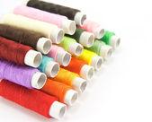 Spools of color thread — Stock Photo