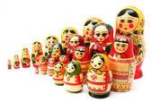 Set of nesting dolls — Stock Photo