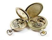 Interne mechanisme van oude horloges isolat — Stockfoto