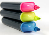 Three markers — Stock Photo