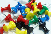 Collection of colored drawing pins — Stock Photo