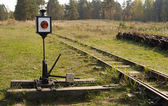 Obsolete manual passing track switch — Stock Photo