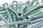 Closeup of metal screws — Stock Photo