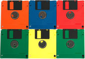 Diskettes of different colors — Stock Photo
