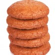 Five appetizing macaroons in pile — Stock Photo