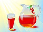 Juice jug — Stock Vector