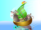 Rats-sailors — Stock Vector