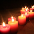 Group of aroma candles — Stock Photo