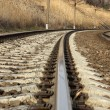 Stock Photo: Turning Railway