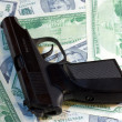 Gun and Money - Stock Photo