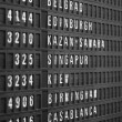 Stock Photo: Flight schedule display