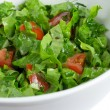 Green salad in a bowl - Stock Photo