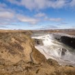 Waterfall in iceland — Stockfoto #1136219