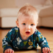 6 month old baby crawling on floor at home — Stock Photo #1136272