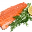 Raw salmon — Stock Photo #1136358