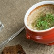 Soup in a pot — Stock Photo