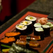 Sushi set in a restaurant — Stock Photo