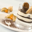 Tiramisu in a glass — Stock Photo