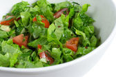 Green salad in a bowl — Stock Photo