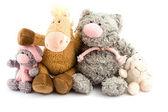 Four plush toys — Stock Photo