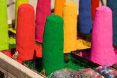 Heldere kleuren van verven en pigmenten — Stockfoto