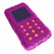 Fur phone — Stock Photo